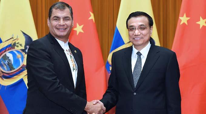 李克強會見厄瓜多爾總統科雷亞