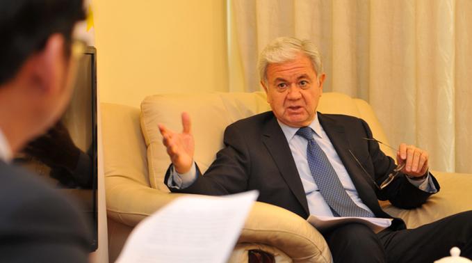塔吉克斯坦駐華大使阿利莫夫接受新華網記者專訪
