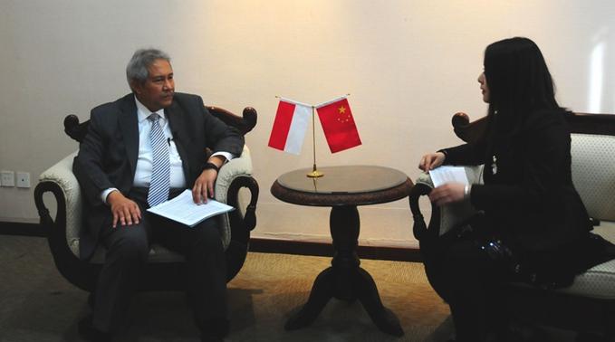 """印尼駐華大使蘇更接受新華網""""兩會""""獨家專訪"""