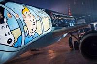 比利時航空用《丁丁歷險記》彩繪裝扮客機