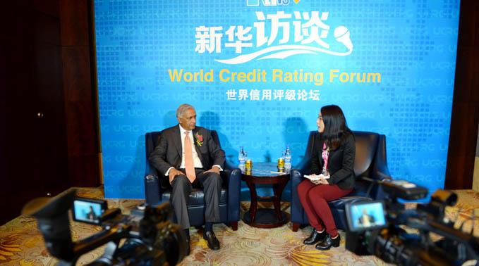 巴基斯坦前總理阿齊茲在首屆世界信用評級論壇期間接受新華網獨家專訪