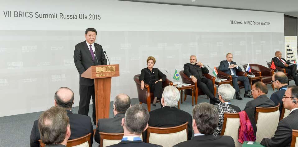 習近平出席金磚國家領導人同金磚國家工商理事會代表對話會