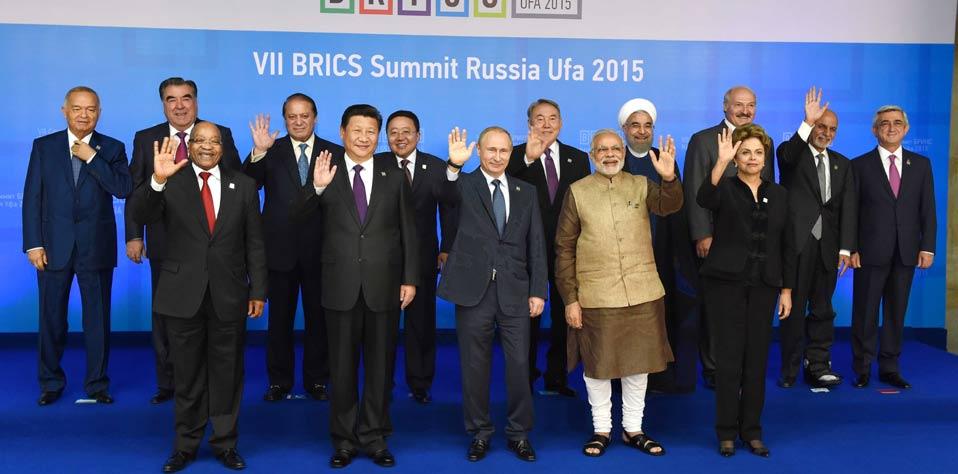 習近平出席金磚國家同歐亞經濟聯盟、上海合作組織成員國、觀察員國及受邀國領導人對話會
