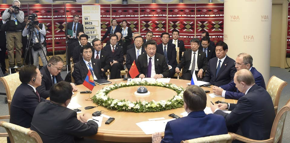 習近平出席中俄蒙三國元首第二次會晤