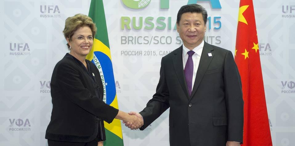 習近平會見巴西總統羅塞夫