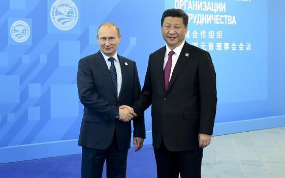 普京迎接習近平出席上合峰會