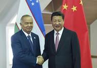 習近平會見烏茲別克斯坦總統