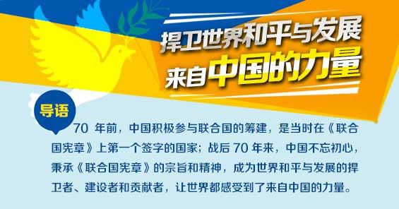 捍衛世界和平 來自中國的力量