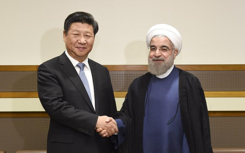 習近平會見伊朗總統魯哈尼