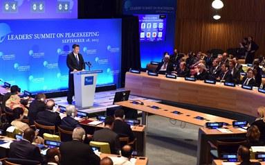 習近平出席聯合國維和峰會並發表講話