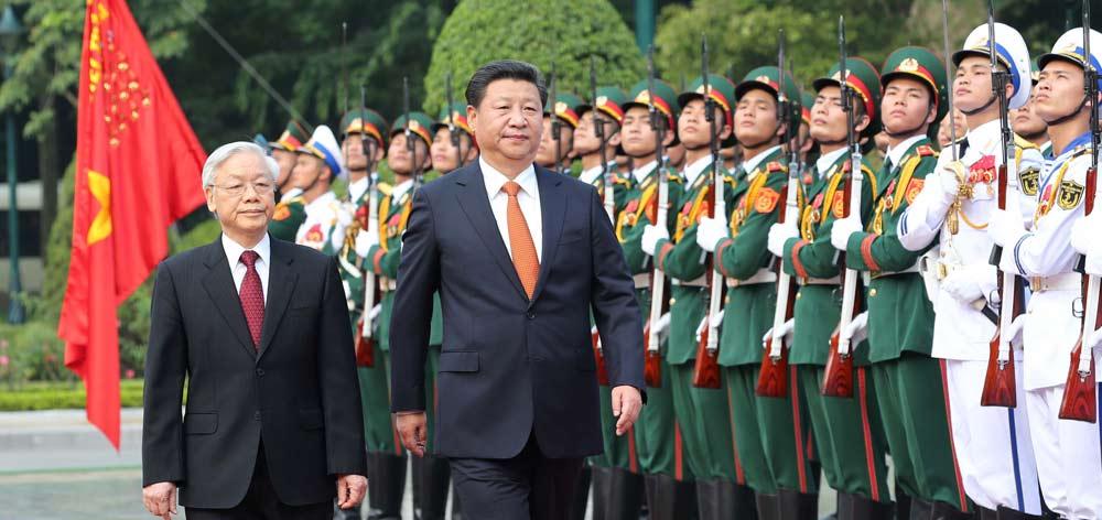 習近平出席越共中央總書記阮富仲舉行的歡迎儀式