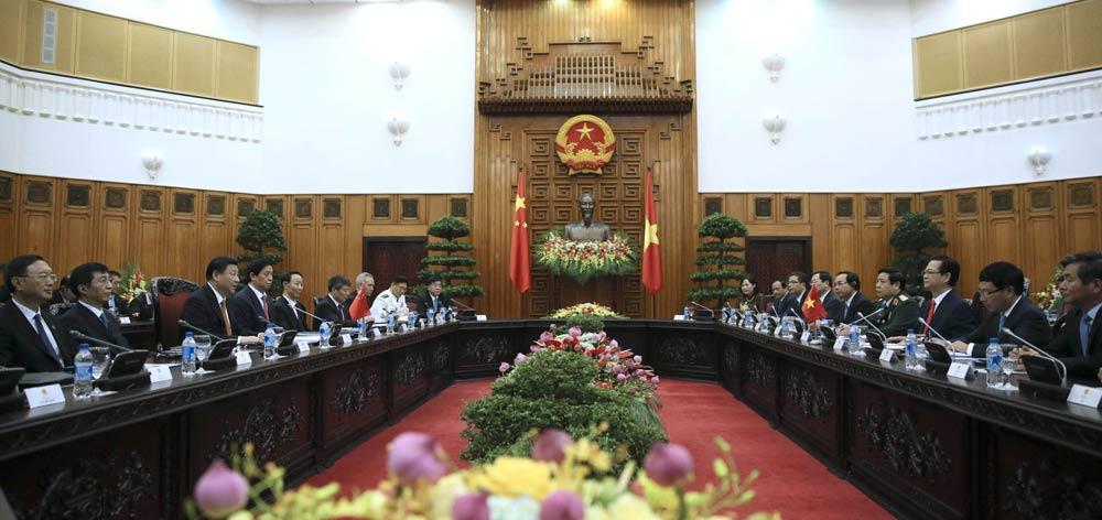 習近平同越南總理阮晉勇舉行會談