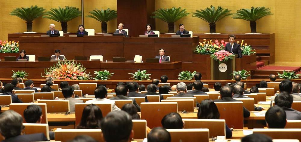 習近平在越南國會發表重要演講
