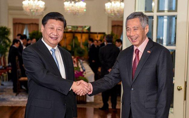 習近平同新加坡總理舉行會談