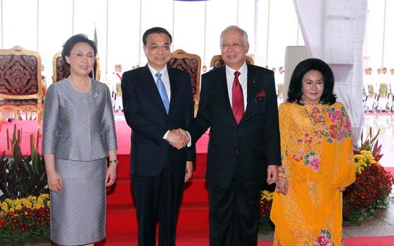 李克強同馬來西亞總理納吉布舉行會談