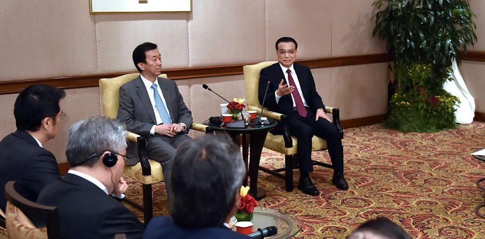 李克強會見馬來西亞經濟工商界代表