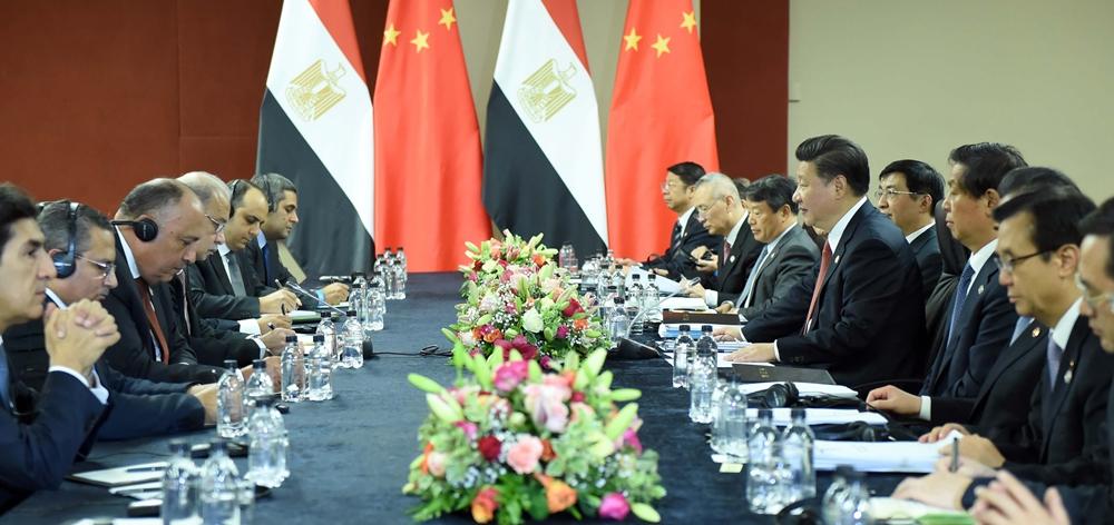 習近平會見埃及總理伊斯梅爾