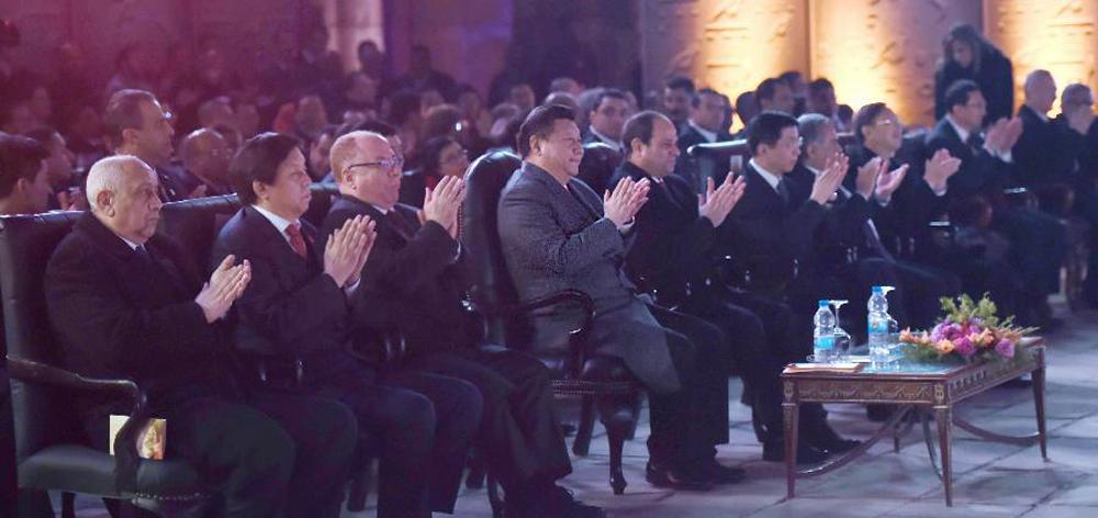 習近平和埃及總統塞西共同出席中埃建交60周年慶祝活動