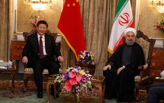 習近平同伊朗總統魯哈尼舉行會談