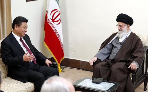 習近平會見伊朗最高領袖哈梅內伊