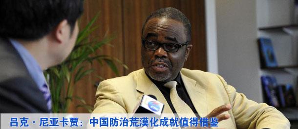 呂克·尼亞卡賈:中國防治荒漠化成就值得別國借鑒