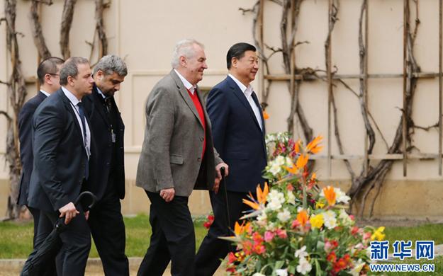 習近平同捷克總統澤曼舉行會晤