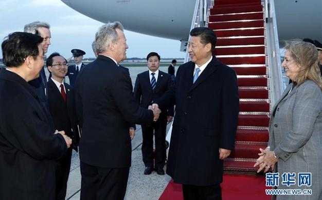 習近平抵達華盛頓出席第四屆核安全峰會