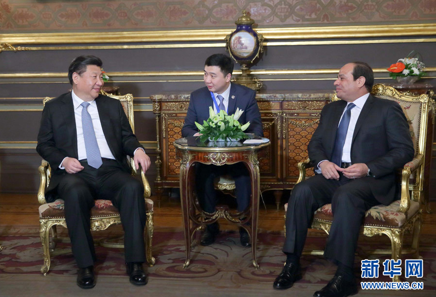 【資料】習近平會見埃及總統塞西