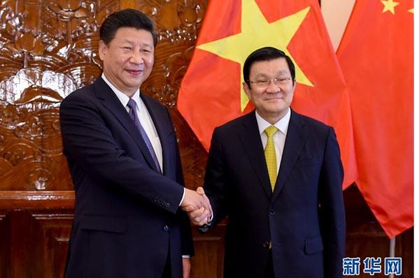 【資料】習近平同越南國家主席張晉創舉行會談