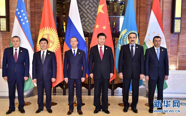 習近平集體會見上海合作組織成員國領導人