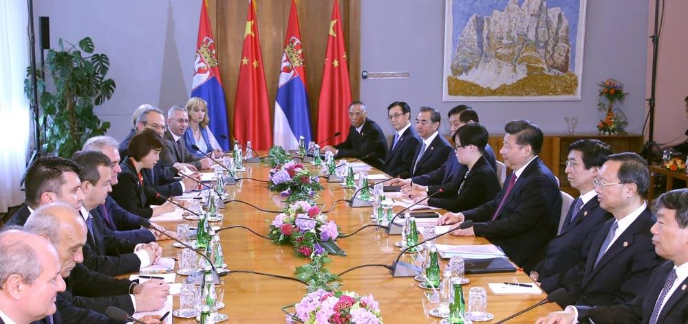 習近平同塞爾維亞總統尼科利奇舉行會談