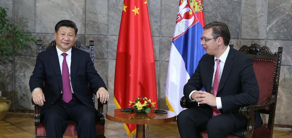 習近平會見塞爾維亞總理武契奇