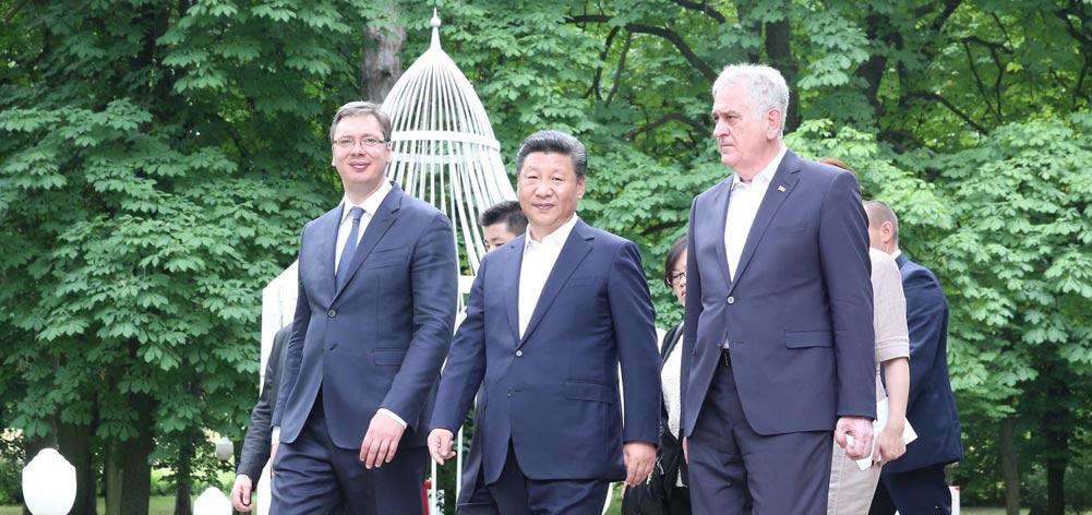 習近平出席塞爾維亞總統尼科利奇、總理武契奇共同舉行的午宴