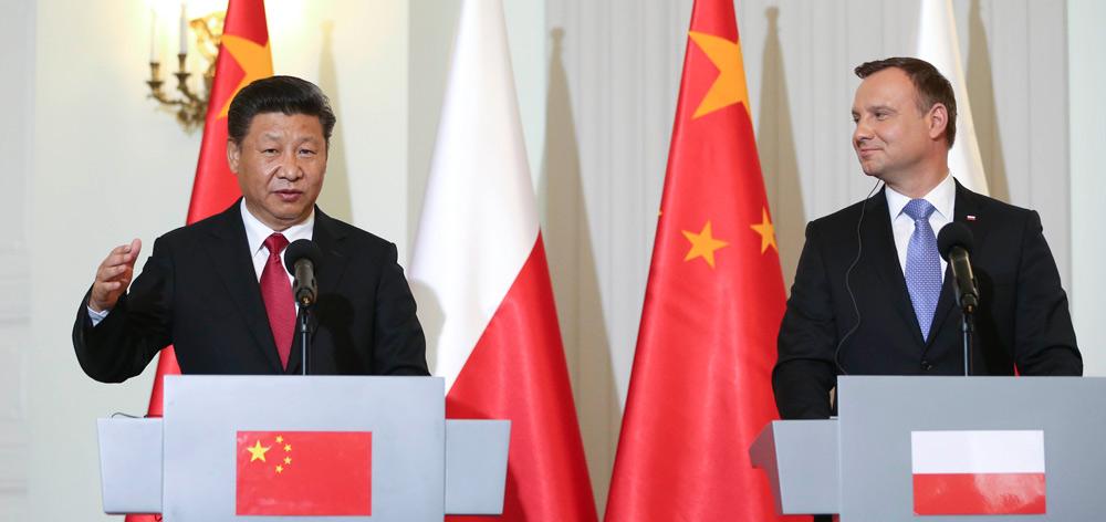 習近平同波蘭總統杜達共同會見記者