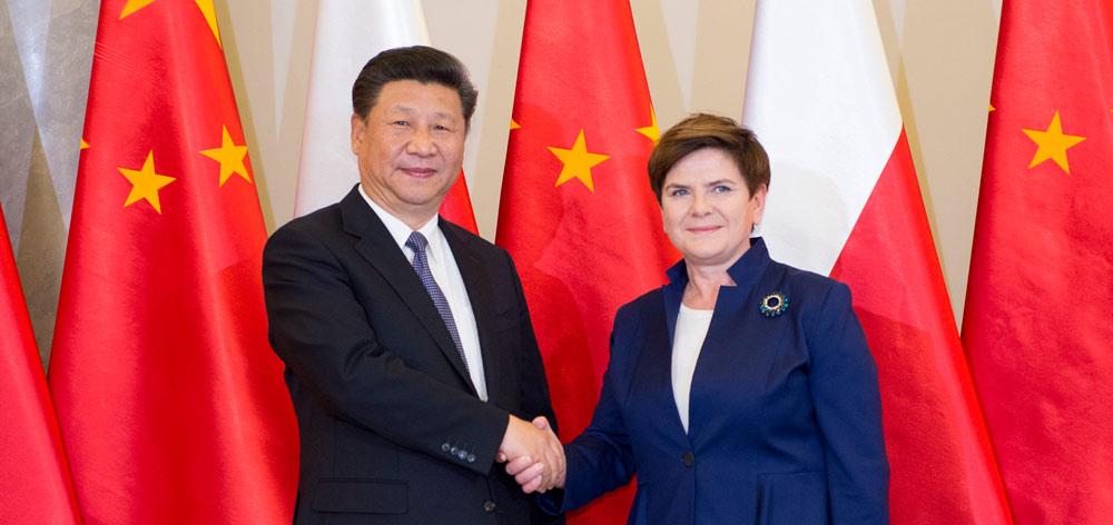 習近平會見波蘭總理希德沃