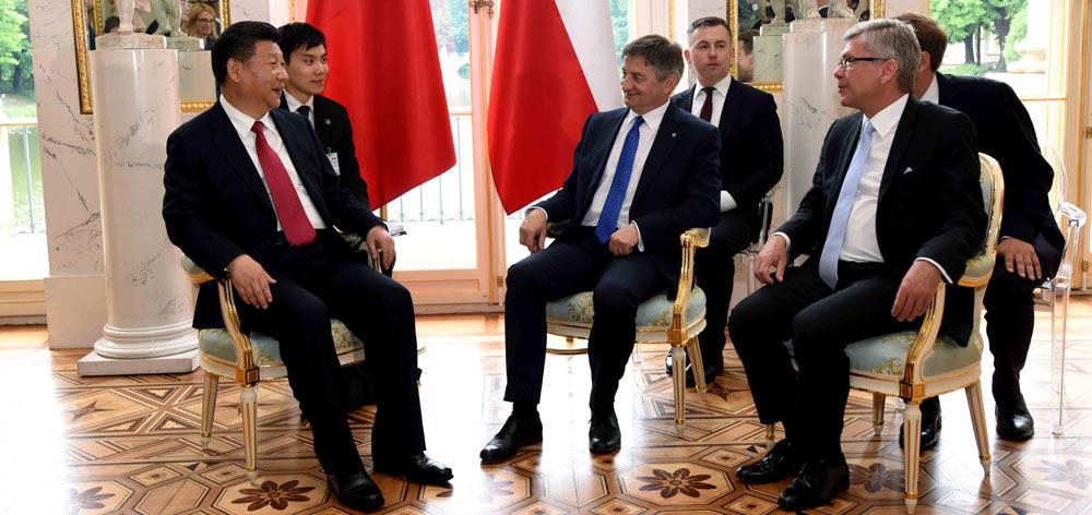 習近平會見波蘭參議長卡切夫斯基和眾議長庫赫欽斯基