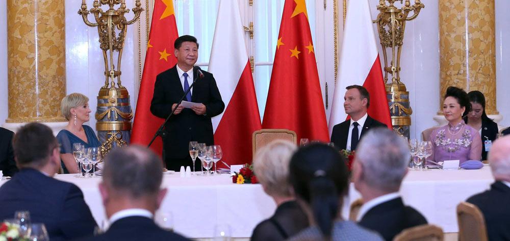 習近平出席波蘭總統杜達舉行的歡迎晚宴