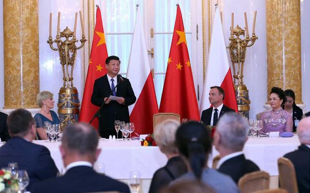 習近平出席波蘭總統舉行的歡迎晚宴