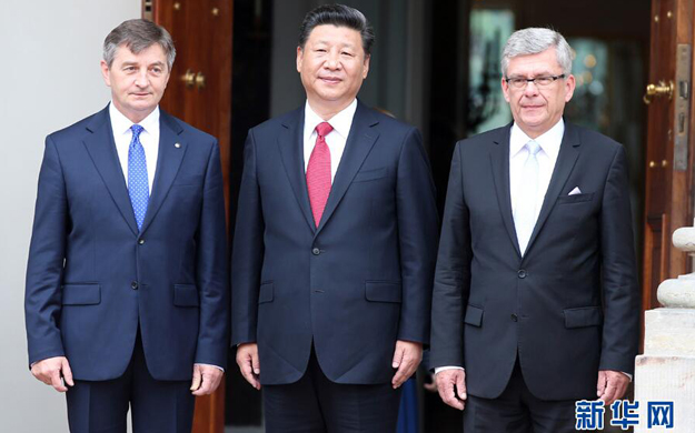 習近平會見波蘭參議長和眾議長