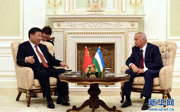 習近平同烏茲別克斯坦總統舉行會談