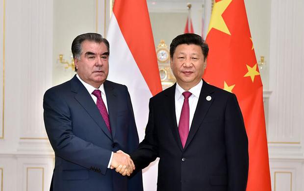 習近平會見塔吉克斯坦總統