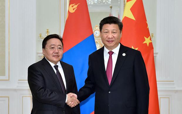 習近平會見蒙古國總統