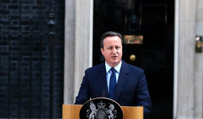 """英國首相卡梅倫就""""脫歐""""公投發表講話"""