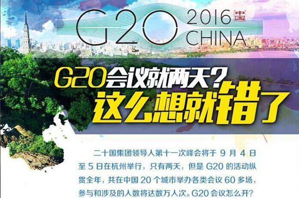 【G20係列圖解】G20會議就兩天?這麼想就錯了