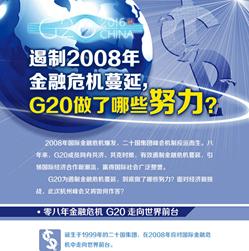 【G20係列圖解】遏制2008年金融危機蔓延 G20做了哪些努力?