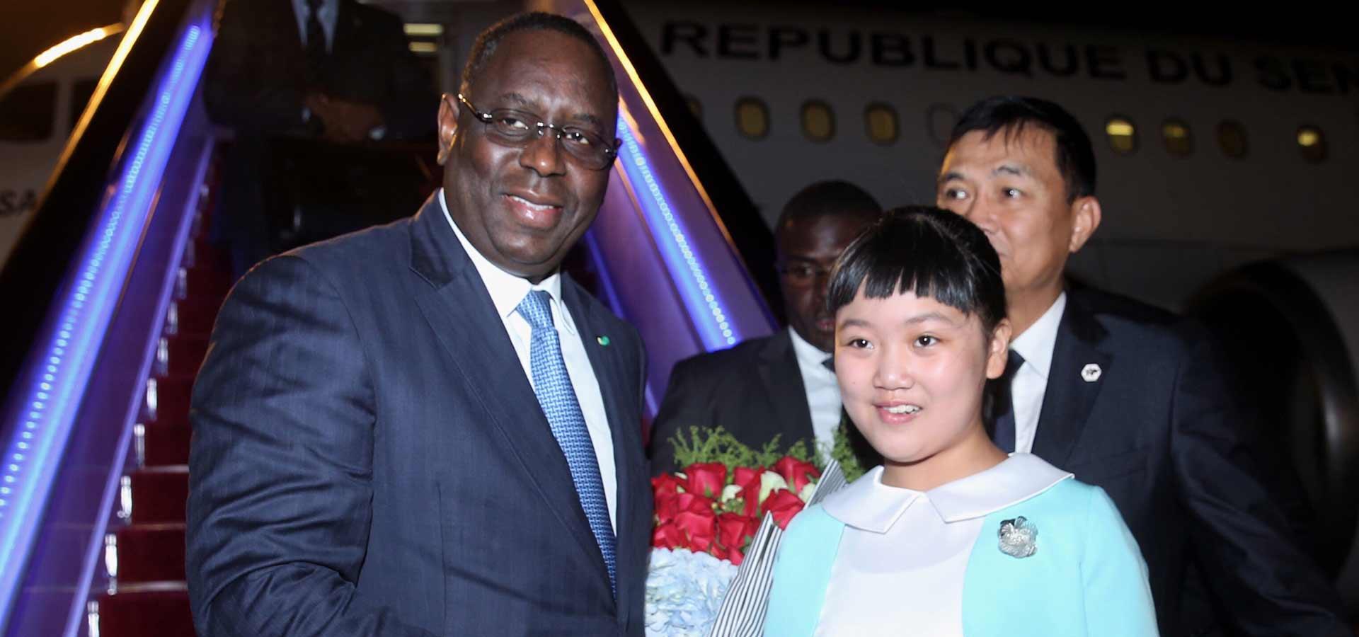 塞內加爾總統薩勒抵達杭州