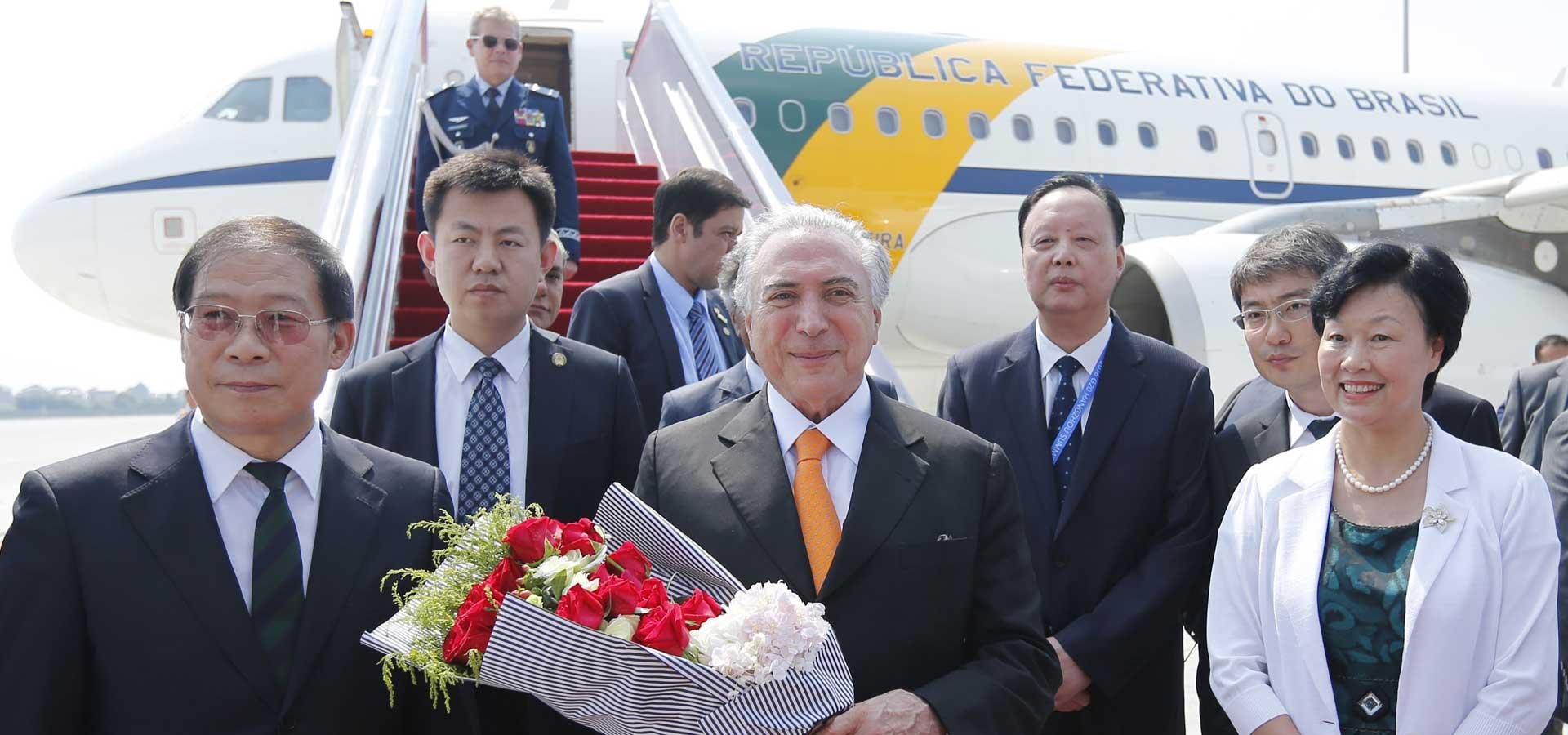 巴西總統特梅爾抵達杭州