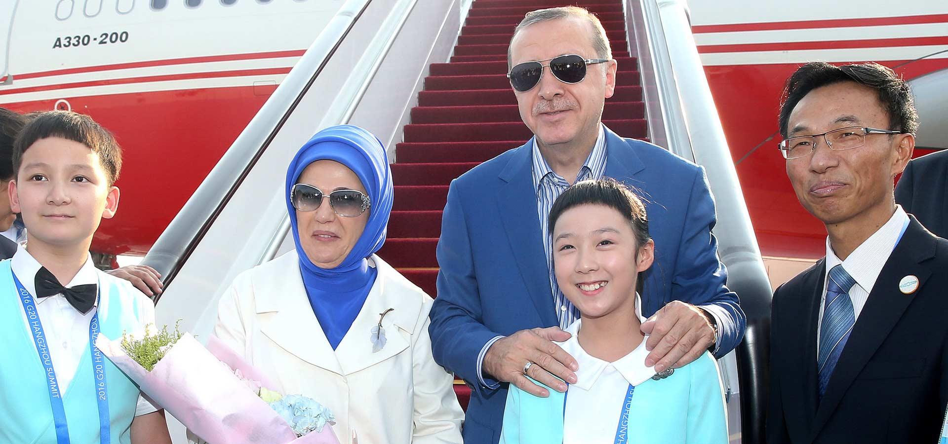 土耳其總統埃爾多安抵達杭州