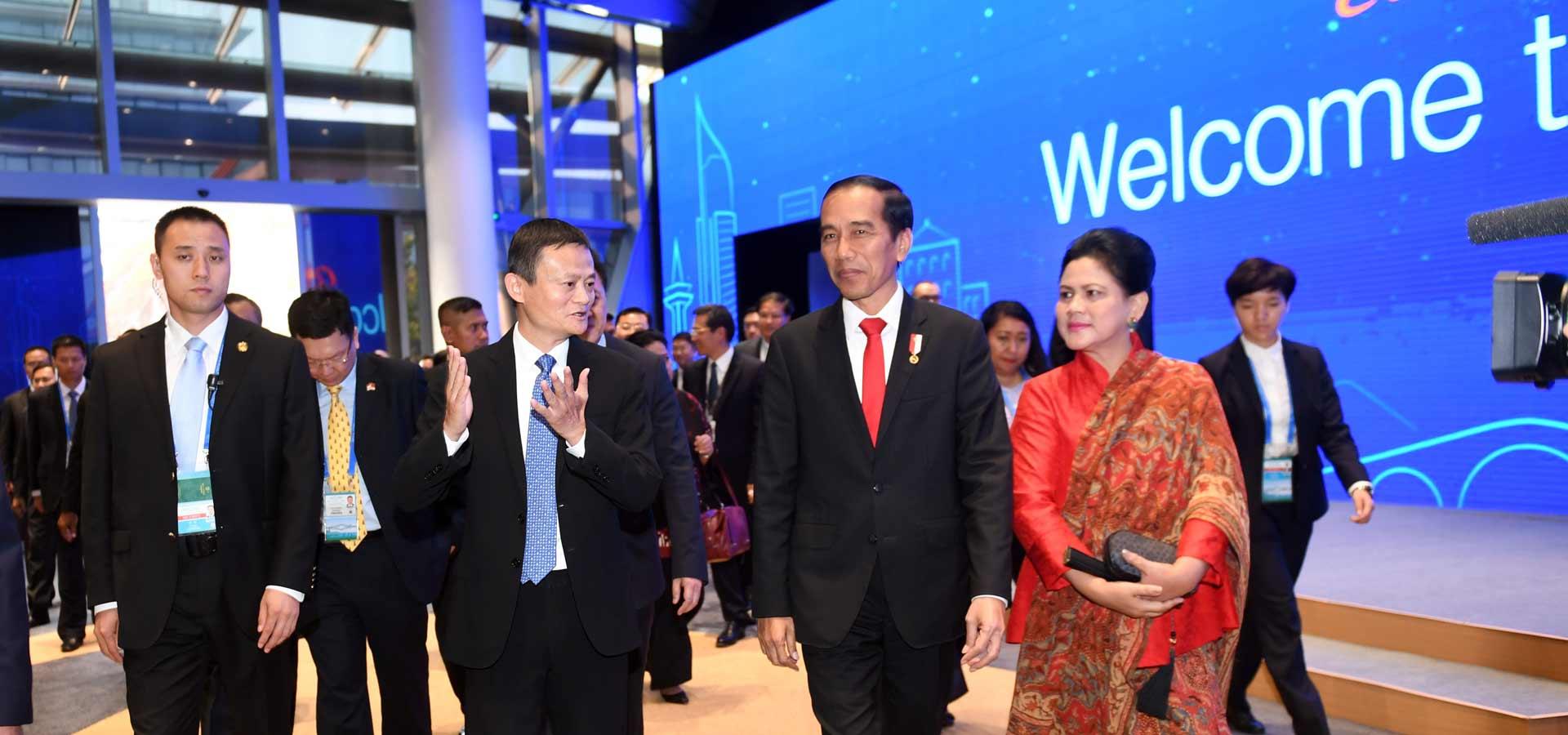 印度尼西亞總統佐科參觀阿裏巴巴集團總部