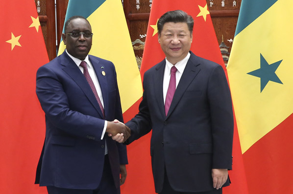 習近平會見塞內加爾總統薩勒